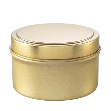 12 Private Label Scented Gold Travel Candles - Choose Soy or Apricot Coconut Wax