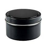 12 Private Label Scented Black Travel Candles - Choose Soy or Apricot Coconut Wax