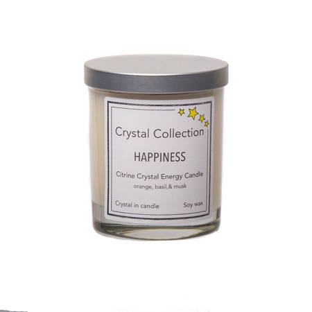 Wholesale Citrine Crystal - HAPPINESS - Energy Candle - Baby 6.5 Ounce