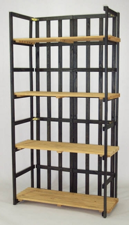 Spruce folding shelf unit with 4 shelves