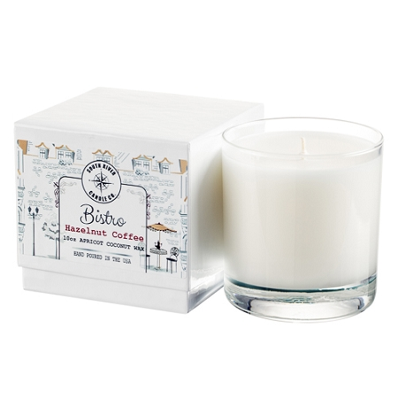 Bistro Collection - 10 oz Tumbler Jars in White Box - 6 Scented Candles