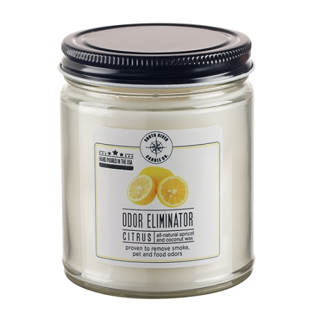 Odor Eliminator 9 oz Jar Candle - Citrus Fresh - Case of 6 - Apricot Coconut Wax
