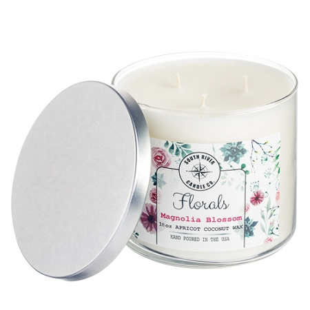 Florals Collection - 18 oz 3 Wick Tumbler Jar - 6 Scented Candles