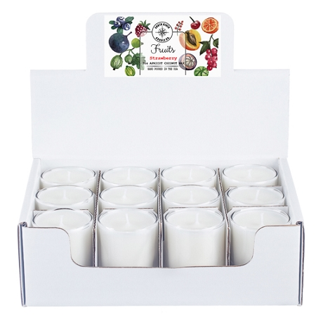 Fruity Collection - 3 oz Tumbler Jars - 12 Pack Display Box