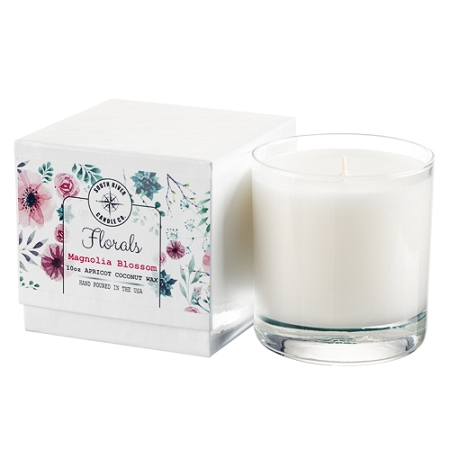 Florals Collection - 10 oz Tumbler Jars in White Box - 6 Scented Candles