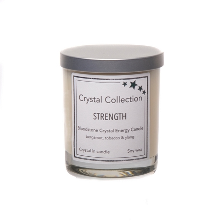 Wholesale Bloodstone Crystal - STRENGTH - Energy Candle - Baby 6.5 Ounce
