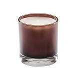 Private Label 11 oz Amber / Brown Glass Tumbler - Optional Box - 12 Candles Per Order