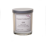 Wholesale Rose Quartz Crystal - LOVE- Energy Candle - Baby 6.5 Ounce