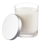 Private Label Clear 6.5 oz Tumbler Jar Candle with Silver Lid -12 Candles Per Order