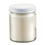 Private Label 9 oz Straight Sided Jar with White Lid