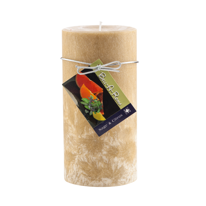 Wholesale 3x6 Scented Natural Wax Pillar Candles Case of 12