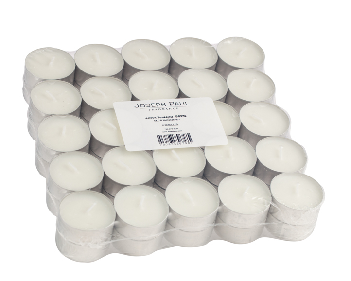 Pallet of 100 cases of 500 White Tealight Candles - Made in the USA