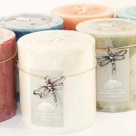 24 Mottled 2.75 x 3 Pillar Candles - 6 Fragrances - Closeout