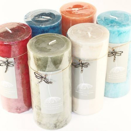 12 Mottled 2.75 x 6 Pillar Candles - 6 Fragrances