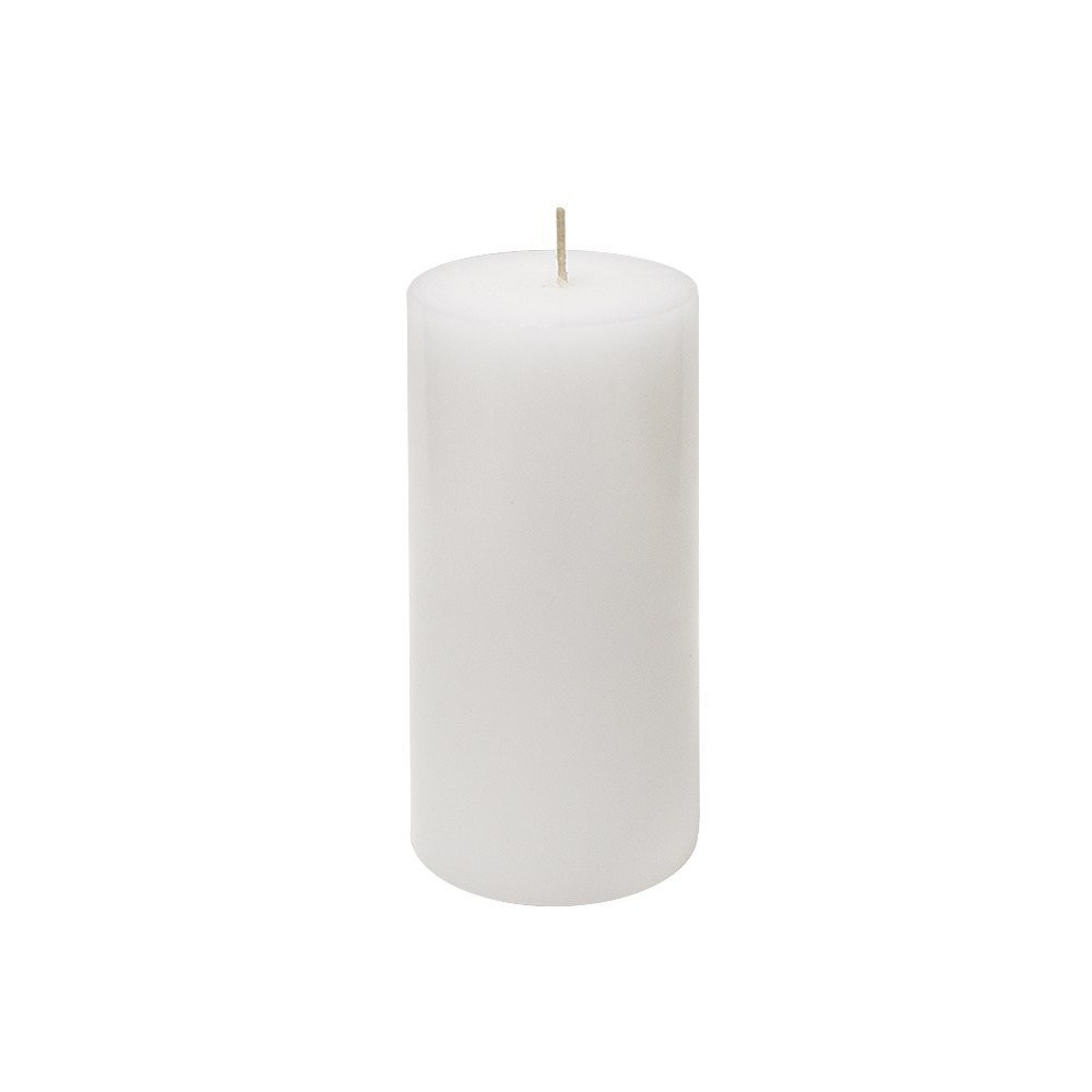 24 Pure White 3x6 Pillar Candles - Hand Poured