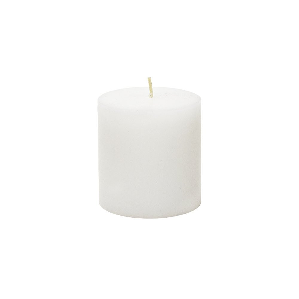48 Pure White 3x3 Pillar Candles - Hand Poured