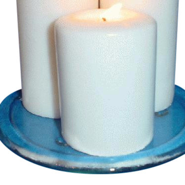 Glass Candle Holder - 6 Inch Round  - 24 Candle Holders Per Case