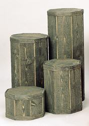 4 piece Spruce pedestal set