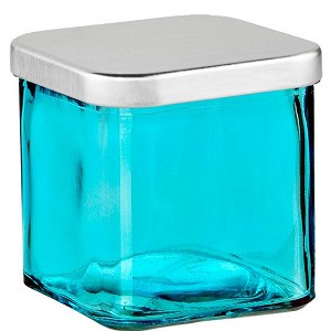 Private Label Blue 20oz Square Jar - 2 Wick with Silver Lid - 6 Candles Per Order