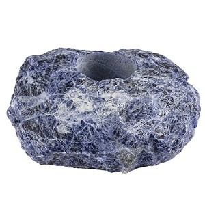 Natural Mineral Sodalite Tealight Candle Holder