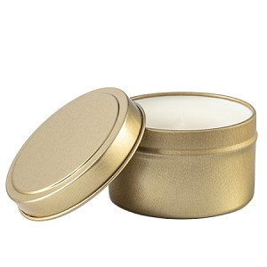 Wholesale Travel Candles - Gold Tin Travel Candle