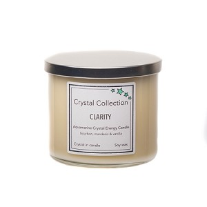 Wholesale 3 Wick aquamarine Crystal Candle