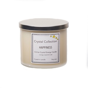 Wholesale 3 Wick Citrine Crystal Candle