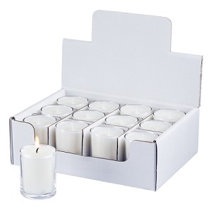 Private Label Clear 3.5 oz Tumbler Jar Candles - Packed 12 Candles to a Display Box