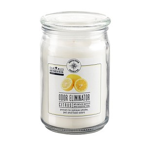 Odor Eliminator 18 oz Jar Candle - Citrus Fresh - Case of 6 - Apricot Coconut Wax