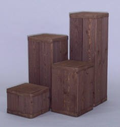 4 piece Square Spruce pedestal set