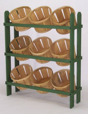 Basket Display with 9 Baskets